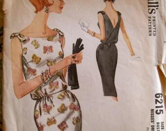 vintage 1962 McCall's sleeveless dress pattern