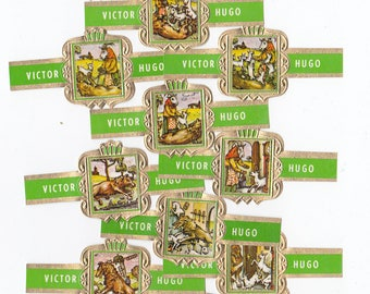16 cigar bands Victor Hugo Fairy-Tale Of The Wolf And The 7 Goats green iss in 1966