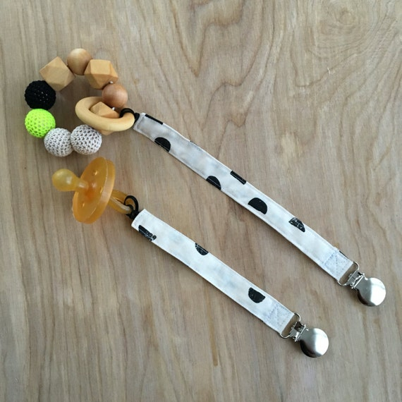 Universal Half Moons Pacifier Clip