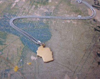 The Minnie Necklace - Tiny Wisconsin Charm Necklace
