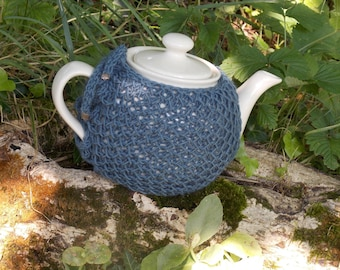 Porcelain teapot / For tea / Table decoration / Teapot with her dress