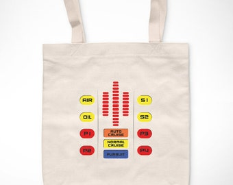 Knight Rider > K.I.T. T 2.0-Exclusive Vintage bag/Exclusive Vintage tote bag-Fantastic car 80s Knight KITT TV Series Television