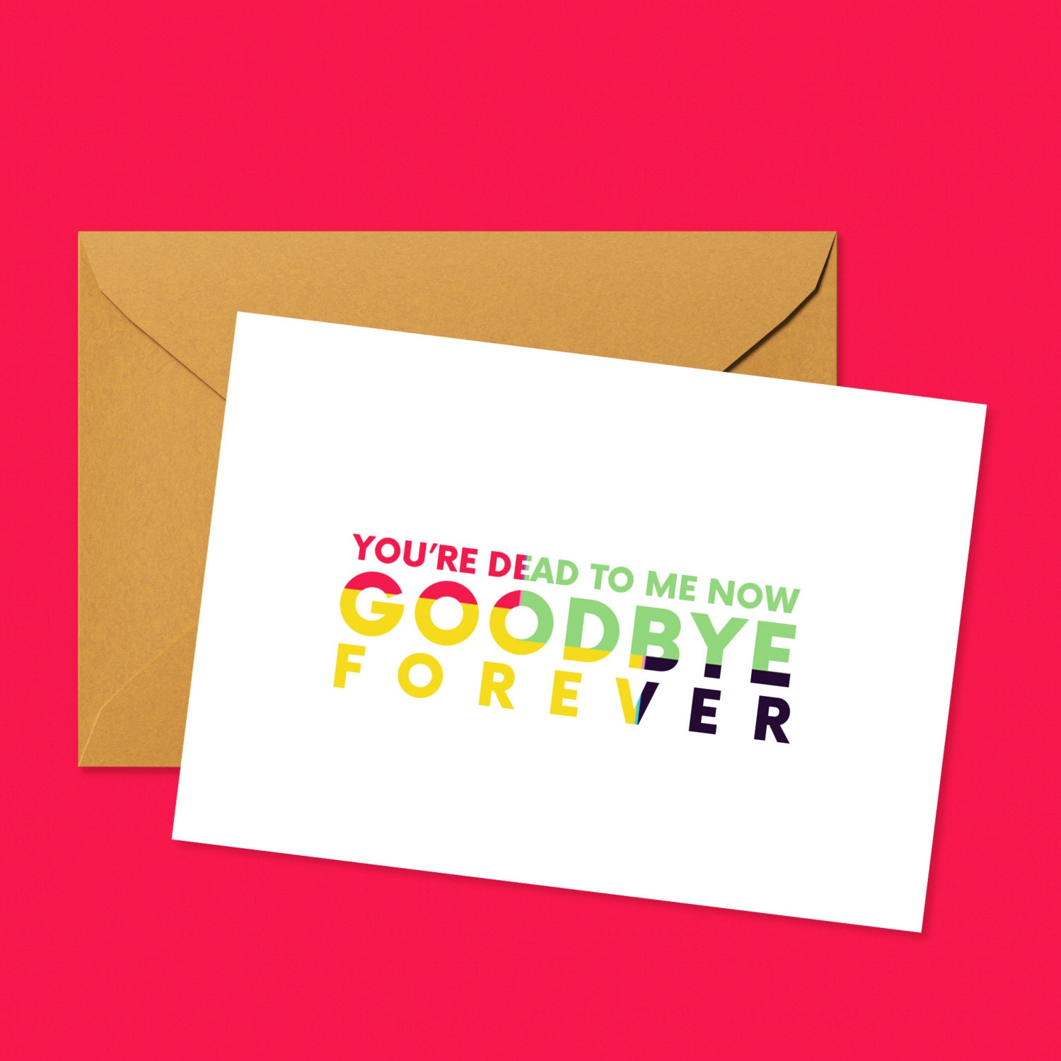 goodbye forever farewellgoodbye greeting card for departing