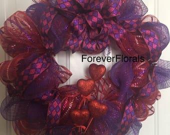 Valentine ZAP! Colorful Wreath