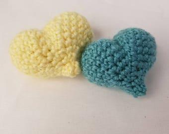 Sweet Summer Fling Heart Shaped Crochet Cat Toys