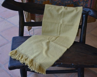Wool Scarf, Angora Scarf, Yellow Scarf, Warm Scarf, Soft Scarf, Long Scarf, Big Scarf, Wide Scarf, Naturally Dyed Scarf, Handwoven Scarf AS2