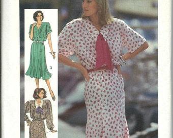 Simplicity 7510 Misses & Miss Petite Dress Pattern, Gored Skirt, Shirt Bodice, 16-18-20 UNCUT