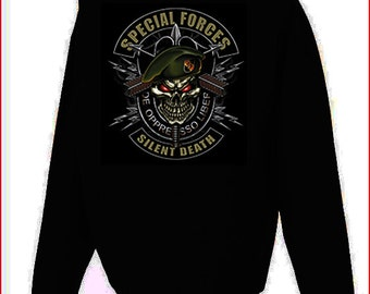 Special Forces Silent Death Hoodie Black S-5XL