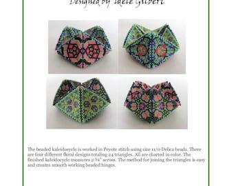 "Beaded Kaleidocycle ""Floral Fantasy"" Tuturoial"