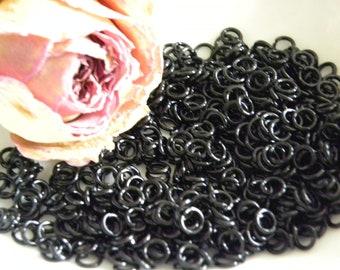 Toned black 20 X 6 mm open rings