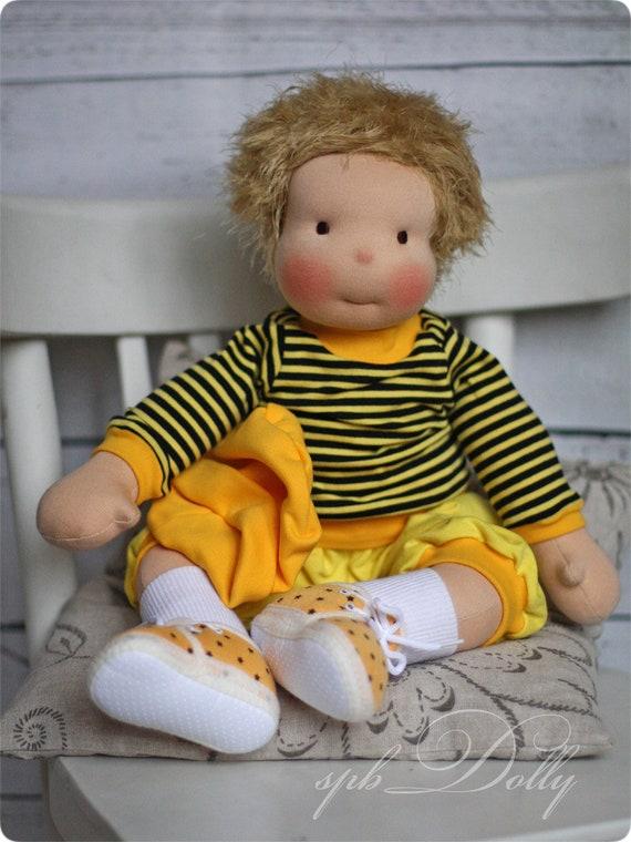 Waldorf Puppe Maya die Biene handgemachte Puppe 52 cm
