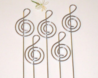 5 clips / pins Locket music note