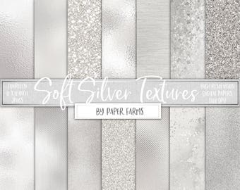 Silver foil and glitter, pale silver, digital paper, textures, scrapbook paper, backgrounds, silver, foil, glass, glitter, DIGITAL DOWNLOAD