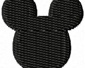 Mouse Ear Machine Embroidery Mini Design