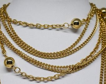 Gorgeous gold otne multi strand necklace