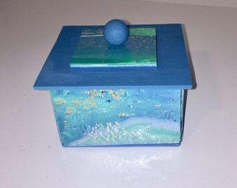 Polymer Clay Turquoise Box