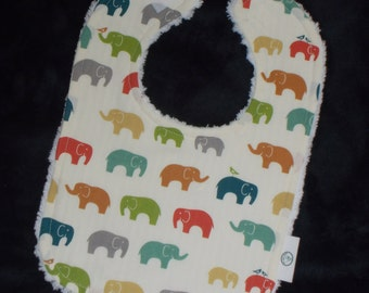 Organic Multi Ellie the Elephant and Chenille Bib