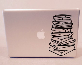 Stack of Books Vinyl Decal