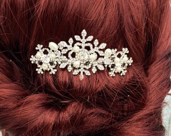 Winter snowflake hair comb -Wedding hair comb -  Bridal hair accessories - Hair accessories