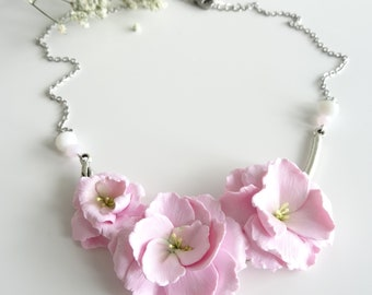 Japanese cherry blossom necklace
