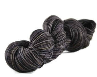 Sport Yarn, Merino yarn, sport weight yarn, superwash wool yarn, 100% Superwash Merino, gray, dark gray yarn, merino sport - Gunmetal