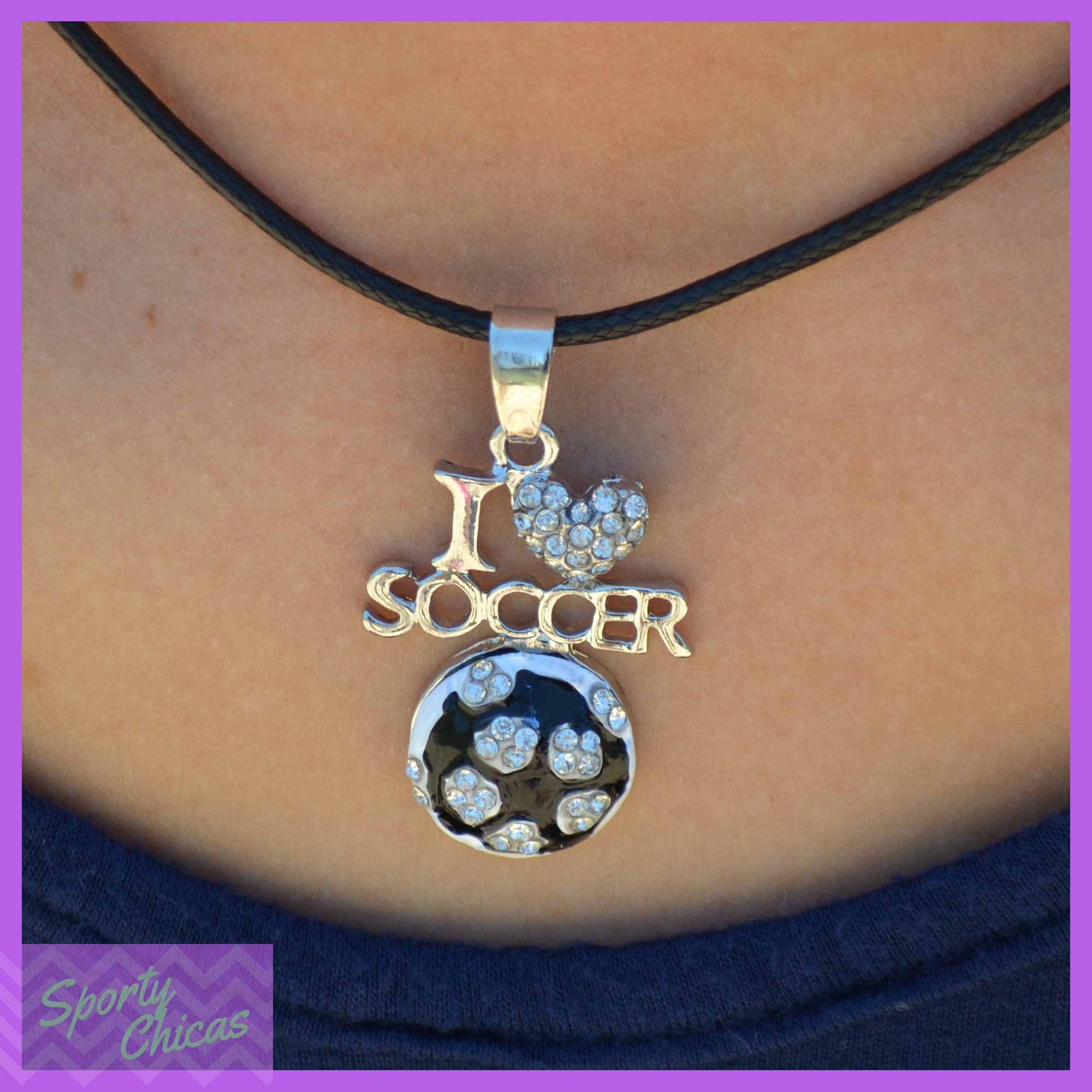 cz med silver necklace pendant and soccerball soccer gold store