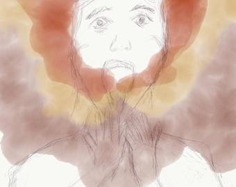 "Mental Health V Art Print 8.5x11"" Digital Artwork"