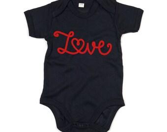Love romper, baby love romper, i love you romper, baby valentines romper, valentines day romper, baby valentines gift, baby heart romper