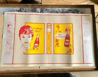 Vintage 1950s Dr. Pepper soda advertising book cover