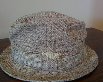 Vitage men's tweed Fedora, size 7 1/4