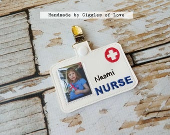 Pretend Play Nurse Badge - Handmade Child Gift Doctor Educational Imagination