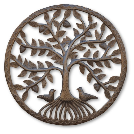 Mangrove Tree of Life w/ Roots, Haitian Quality Steel Sculpture, One-of-a-Kind, 22 x 22