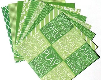 25% OFF - Lime Green - 6x6 Recollections Home Basics Paper Pack