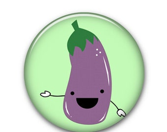 "Mr. Eggplant 1"" Button"