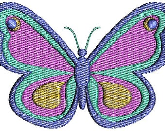 Pretty Butterfly with fill Machine Embroidery Designs 4x4 & 5x7 Instant Download Sale