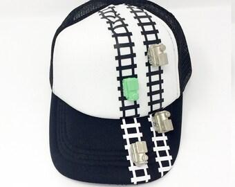 3D Train Cap/ Hat, train cap, boy hat, train lovers, birthday gift, boy gift, cool hat, train gift,choo-choo cap, xmas gift