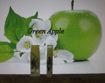 "Organic ""Green Apple"" Lip Balm  - 31 Luscious Flavors - 100% Natural"