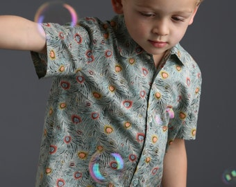 Boy's Liberty Print Shirt | Baby to 7 Years | Goldman