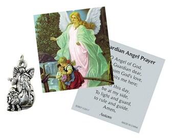 Guardian Angel Medal & Prayer Card