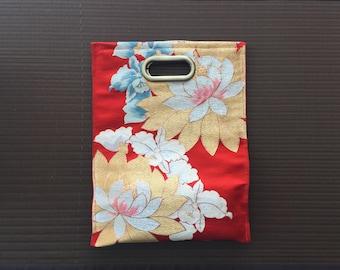 Japanese vintage OBI handbag_Red