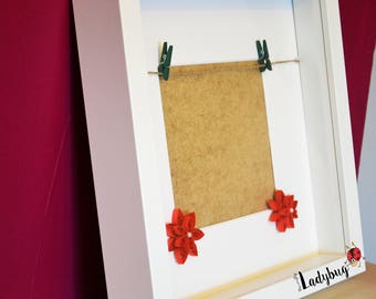 Personalised Quilled Flower Frame, Quilling Box Frame