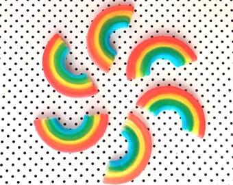 Edible Rainbow Sugars (12), Rainbow Cupcake Toppers, Cake Decorations, Rainbow Party, Rainbow Party Supplies, Kids Birthday Cake