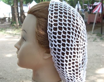 Cotton Handmade Hair Snood in my Standard Pattern-3 Lengths available