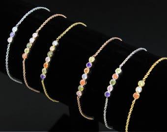 Birthstone Bracelet, Family Birthstone Bracelet, Mothers Bracelet, Grandmother Bracelet, Gold Bracelet, Birthstone Gifts, Mothers Jewelry,