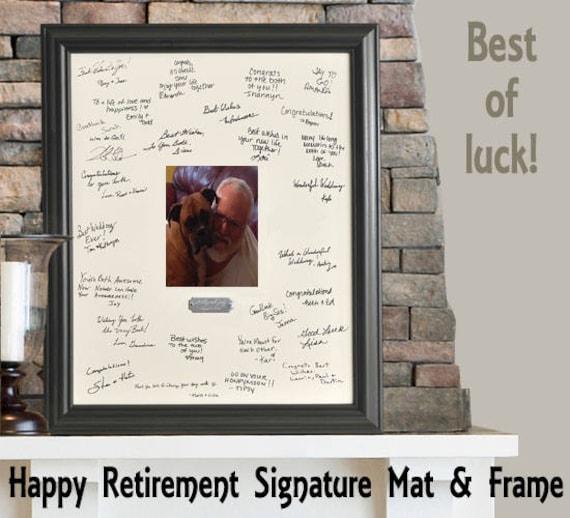 Retirement Mat and Frame for Signatures / Signature Mat /