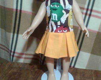 """M & M 18"""" doll dress"""