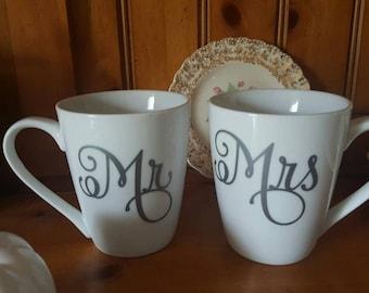 Mr& Mrs coffee mugs