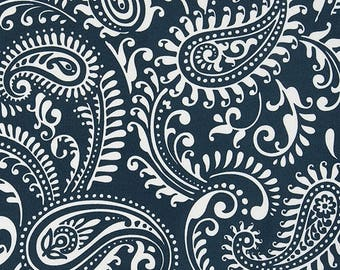 Outdoor Or Indoor Navy And White Paisley Fabric By The Yard Designer Home  Decor Fabric Navy Drapery, Curtains, Or Upholstery Fabric C525