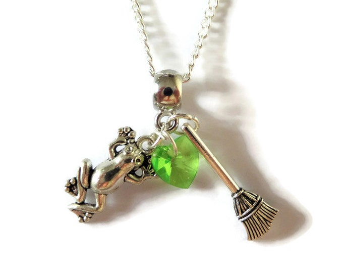 """PRINCESS TIANA inspired charm 20"""" silver tone necklace Princess & the Frog princess party bag favours fan gift jewellery Uk"""