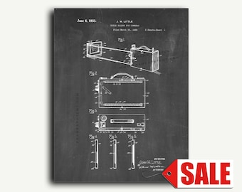 Patent Art - Title Holder for Cameras Patent Wall Art Print